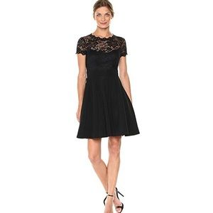 BeBe Woman's Lace Fit and Flare Cocktail Dress
